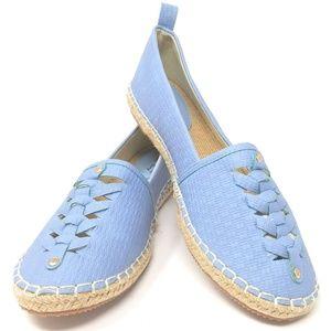 Women's Braided Espadrille Flats, E-2819, Lt Blue